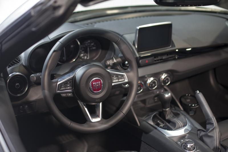 "The Fiat 124 Spider's interior (Amou ""Joe"" Seto/Neon Tommy)"