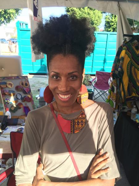 Rhonda Ray at her Afrolicious Hair Affair booth at Taste of Soul 2015