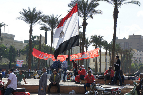 Protests have carried on across Egypt since last month, as seen from this Nov. 23 photo. (Kodak Afga/Flickr)