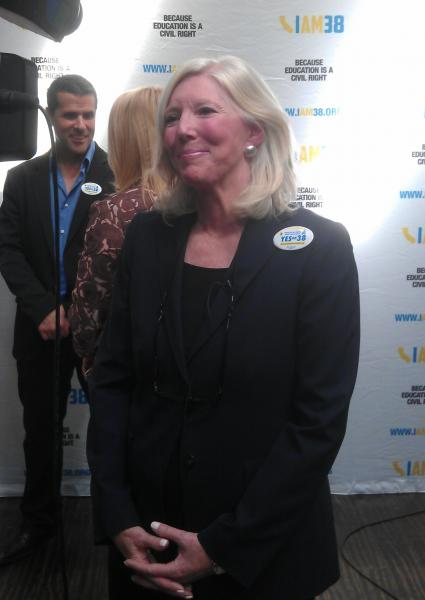 Molly Munger, who is the face and money behind the Prop 38 campaign, is the daughter of Charles Munger, number two to Warren Buffet at Berkshire Hathaway. (Paresh Dave/Neon Tommy)