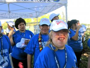 A group of special education students at a recent field opening. (Brianna Sacks/Neon Tommy)