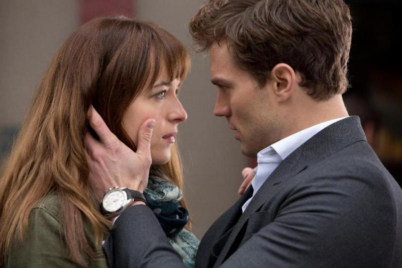 "Dakota Johnson and Jamie Dornan in ""Fifty Shades of Grey""/Universal Pictures (Focus Features)."