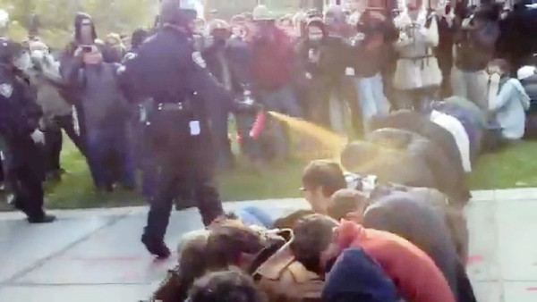 Did police go too far at Occupy UC Davis? (credit Associated Press by way of the Los Angeles Times)