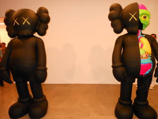 "KAWS' toy like sculptures called ""Emotives"" (Credit: Rebecca Obadia)"