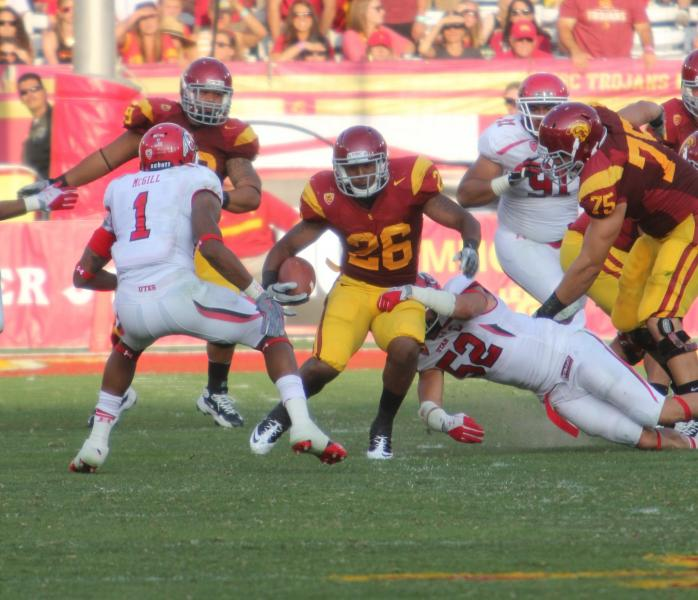 Tyler rushed for 117 yards against the Utes. (McKenzie Carlile/Neon Tommy)
