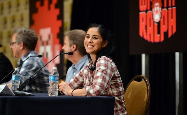 Sarah Silverman at the Wreck-It Ralph press conference (courtesy of Disney)