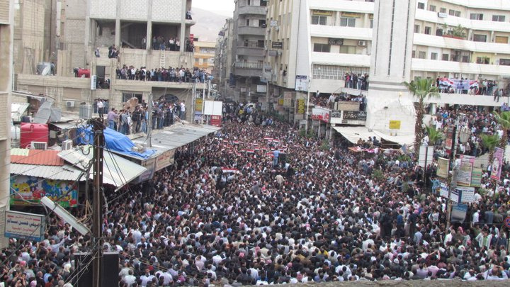 Protests in Douma, Syria this April. (syriana2011, Creative Commons)