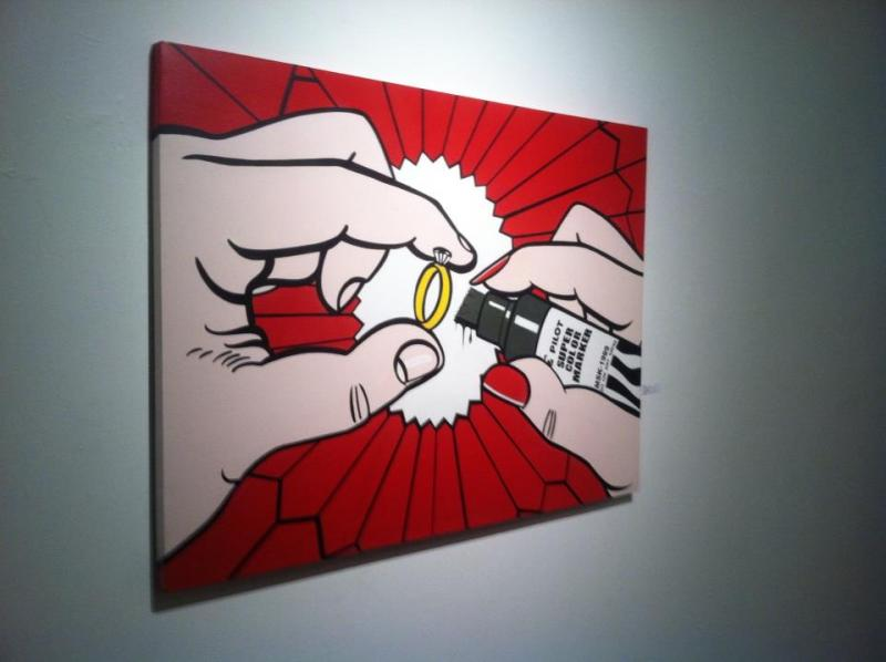 A piece by SEVER at Art Share L.A. (Beth Johnson/Neon Tommy)