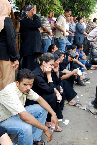 Coptic Christians stage a protest outside a hospital in Cairo (Photo via Creative Commons).