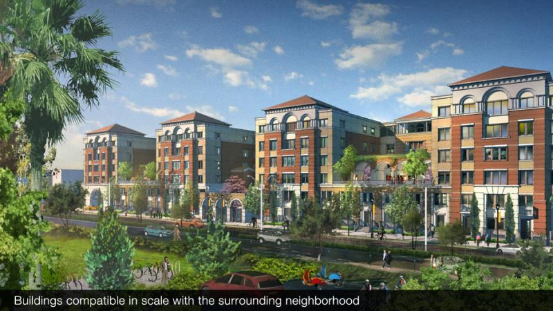 USC argues that the Master Plan would deter, not encourage, gentrification. (Photo from University Village Website)