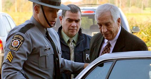 Sandusky after being arrested. (Flickr/Creative Commons)