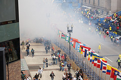 The scene at the Boston Marathon attack. (Flickr Creative Commons)