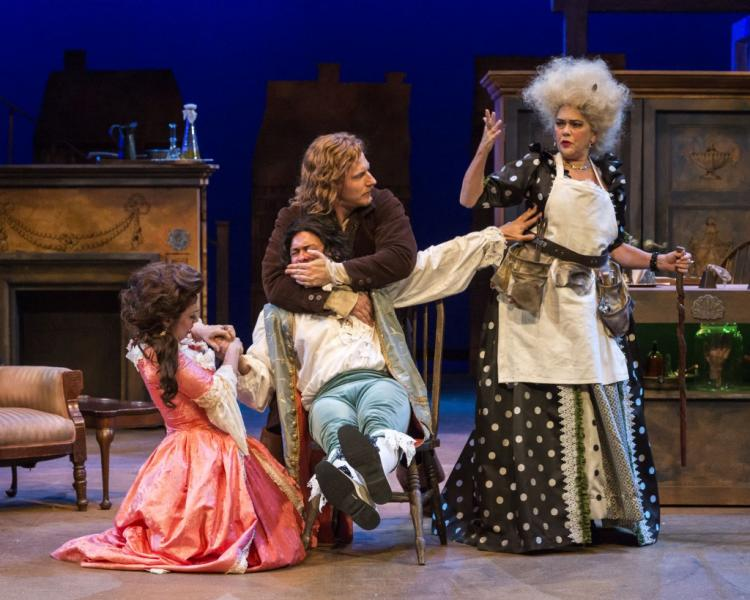 """The Beaux' Stratagem"" is a playful romp of a Restoration comedy. Photo by Craig Schwartz."