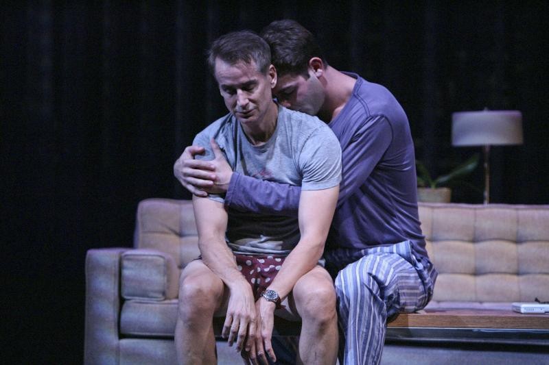 "Geoffrey Nauffts and James Wolk in ""Next Fall"" at the Geffen (Credit: Michael Lamont)"
