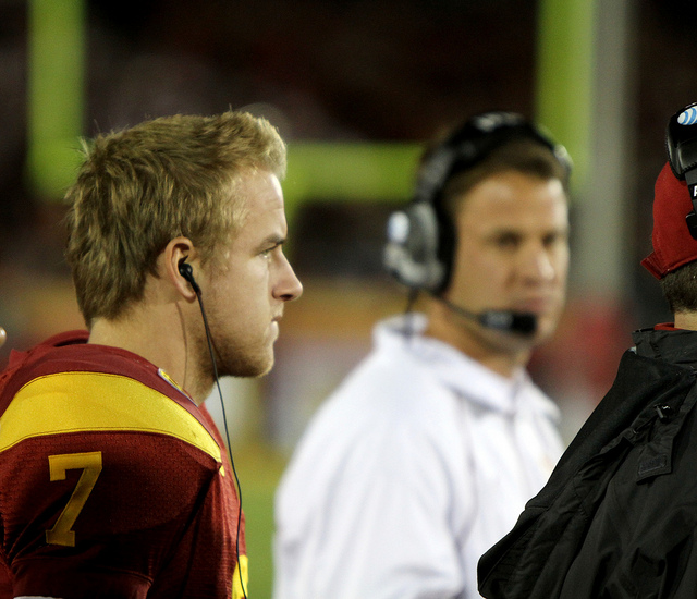 USC head coach Lane Kiffin (Shotgun Spratling/Neon Tommy)