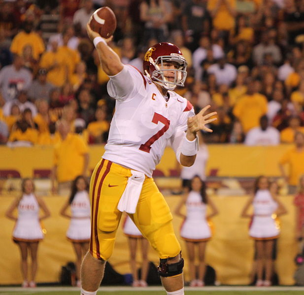 Barkley will be throwing passes for the Trojans for one more season. (James Santelli/Neon Tommy)