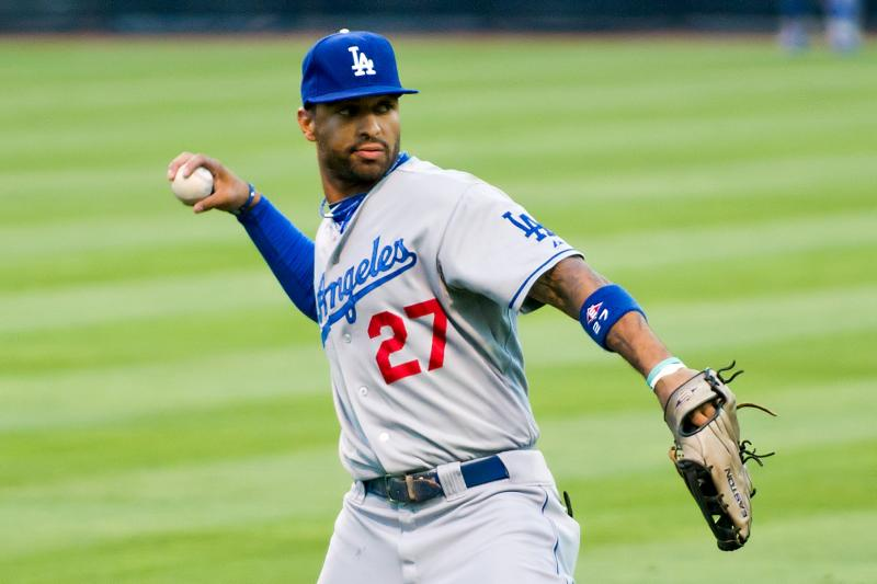 Kemp leads the NL in homers and total bases, and is second in steals. (SD Dirk, Wikimedia Commons)