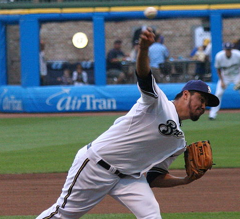 Yovani Gallardo and the Brewers couldn't best St. Louis in the NLCS. (Spaluch1/Wikimedia Commons)