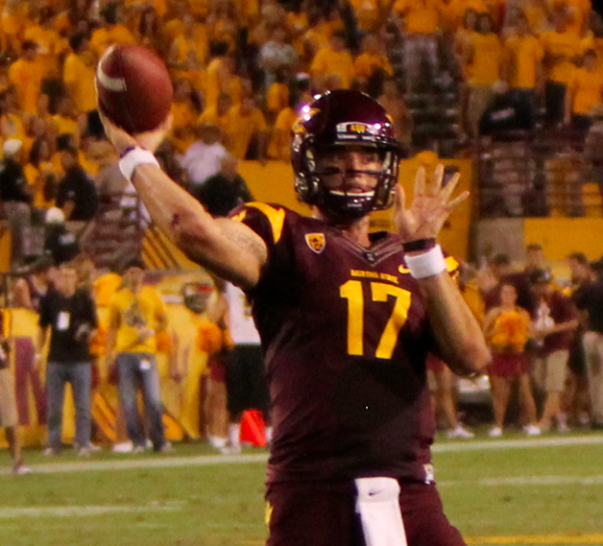 Arizona State QB Brock Osweiler (James Santelli/Neon Tommy)