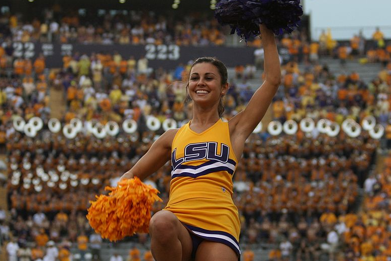 LSU Cheerleader (JustDog/Wikimedia Commons)