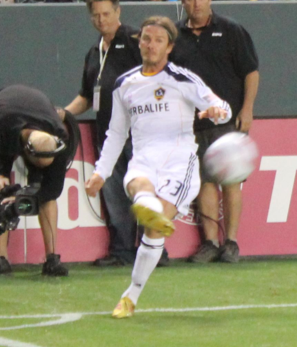Galaxy forward David Beckham (Ryan Kantor/Neon Tommy)