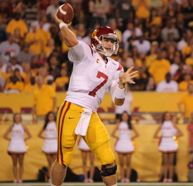 USC QB Matt Barkley had a record night in Boulder. (James Santelli/Neon Tommy)