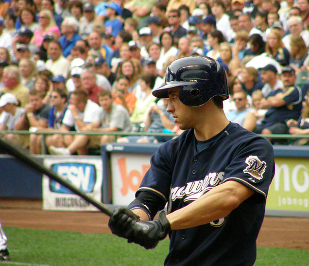 Ryan Braun had his PED suspension reversed, so the Brewers have their best hitter back. (Steve Paluch/Creative Commons)