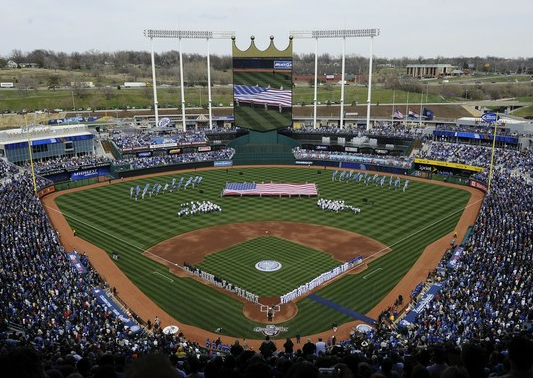 Kauffman Stadium finished up a renovation a couple years ago, and almost had a new roof.