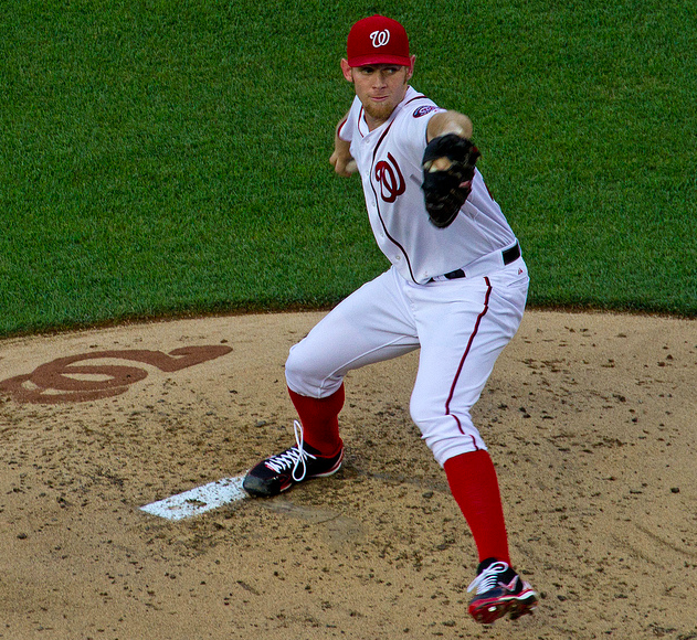 Strasburg leads all Major League pitchers with a 2.71 FIP. (dbking/Creative Commons)