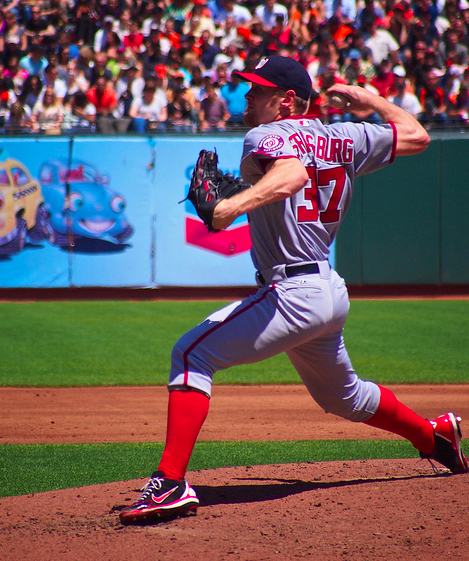 Strasburg had not previously pitched more than 68 innings in an MLB season. (Geoff Livingston/Creative Commons)