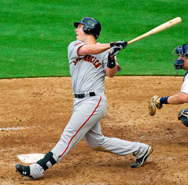 Buster Posey has gotten into the swing of the MVP race. (SD Dirk/Creative Commons)