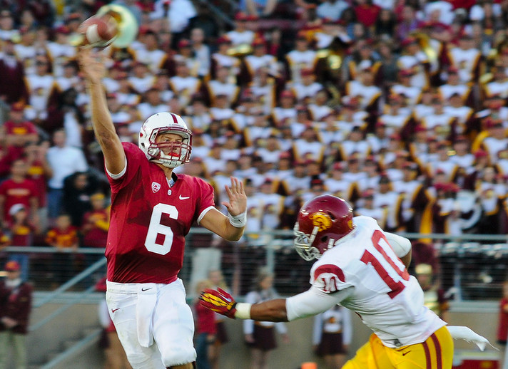 Stanford QB Josh Nunes was 9-for-15 with 137 yards and 2 TD in the second half. (Jerry Ting/NT)
