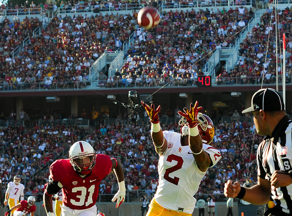 USC's Robert Woods was held to four catches and 38 yards. (Jerry Ting/NT)