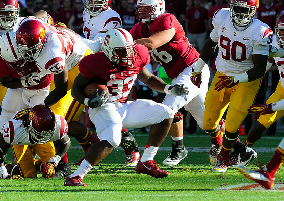 Stanford's Stepfan Taylor had 213 total yards. (Jerry Ting/NT)