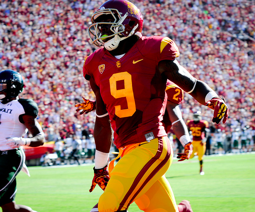 Marqise Lee's record day wasn't enough for USC. (Jerry Ting/NT)