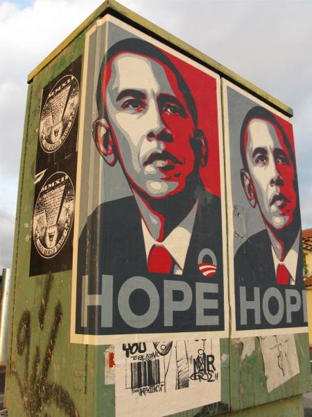 The art world was impacted by artists participating in Obama's 2008 campaign; who's to say that can't happen again? (tonx, Creative Commons)