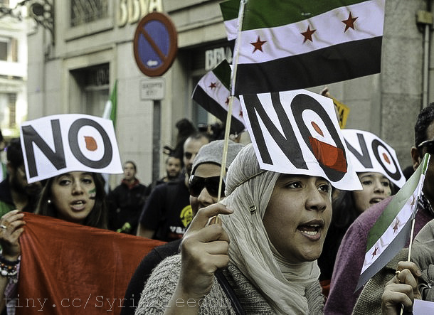 Protesters around the world have been calling for an end to the violence in Syria for months. (Freedom House, Creative Commons)