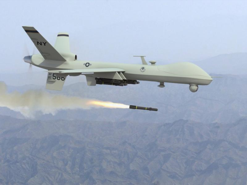 A remotely piloted MQ-9 reaper drone (Charles McCain, Creative Commons)