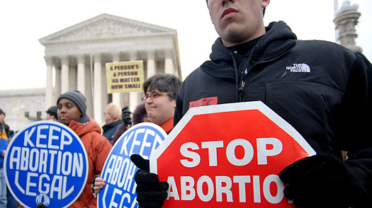 The abortion debate is among the most heated. (hmoloshok, Creative Commons)