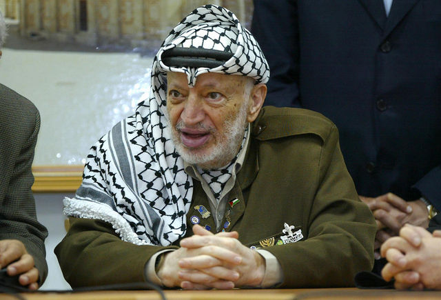 The former Palestinian leader died in 2004 of an unknown cause, which is now being investigated. (Pedro Ugarte/AFP/Getty Images)