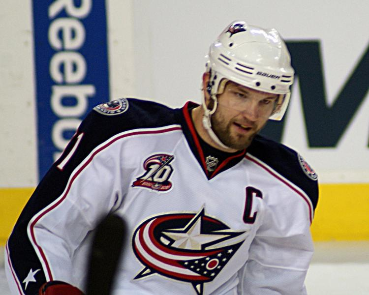 Columbus Blue Jackets star Rick Nash avoid rumors of a potential trade, while the trade deadline looms ahead  (Photo courtesy of Wikimedia Commons).