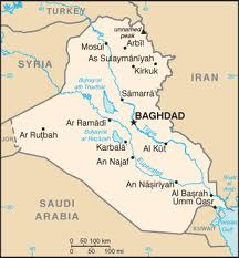 Map of Iraq (Creative Commons)