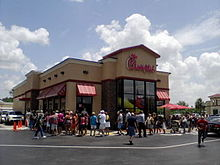 "The Chick-Fil-A in Port Charlotte, Florida on August 1, ""Chick-Fil-A Appreciation Day"" (Creative Commons/Wikipedia)"