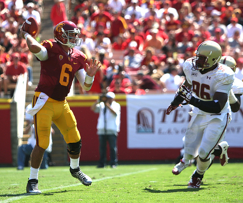 Cody Kessler was nearly perfect on Saturday. (Kevin Tsukii/Neon Tommy)