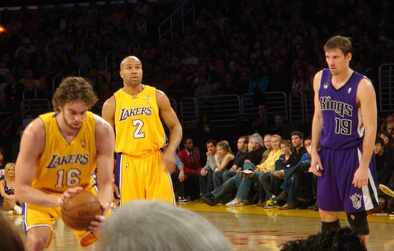 The Lakers are longing to bring back the success they had when Derek Fisher was in L.A., while the Kings are struggling to keep their franchise in Sacramento (Bridget Samuels/Wikimedia Commons).