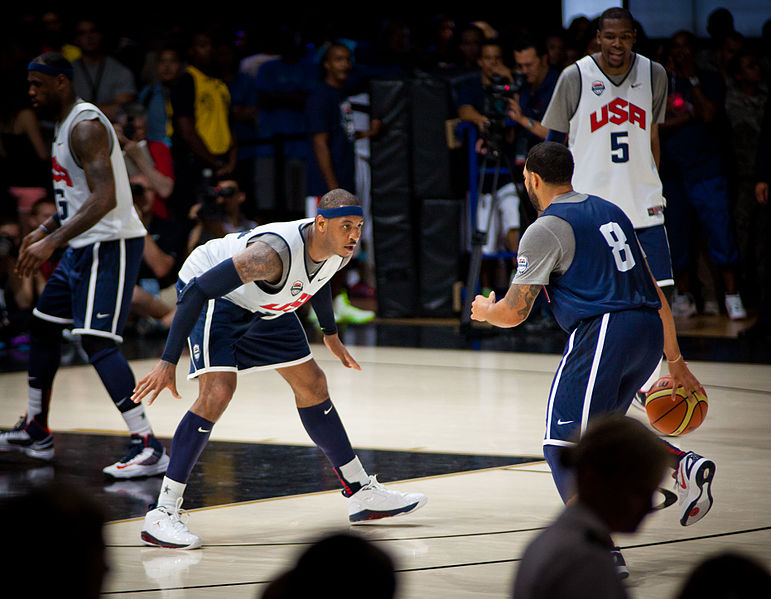Carmelo Anthony and Deron Williams will be battling to be the best team in New York (Tim Shelby/Creative Commons).
