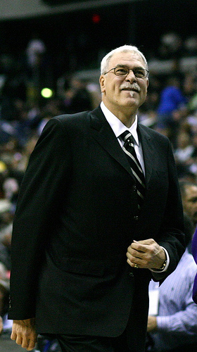 Former Lakers coach Phil Jackson is partly to blame for Bynum's struggles in Purple and Gold. (Keith Allison/Flickr)