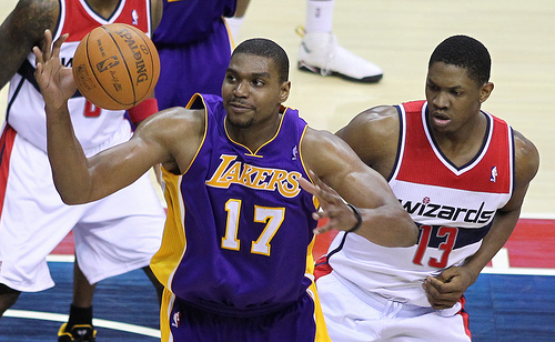 Bynum's attitude and effort were oft-questioned in Los Angeles. (Keith Allison/Flickr)