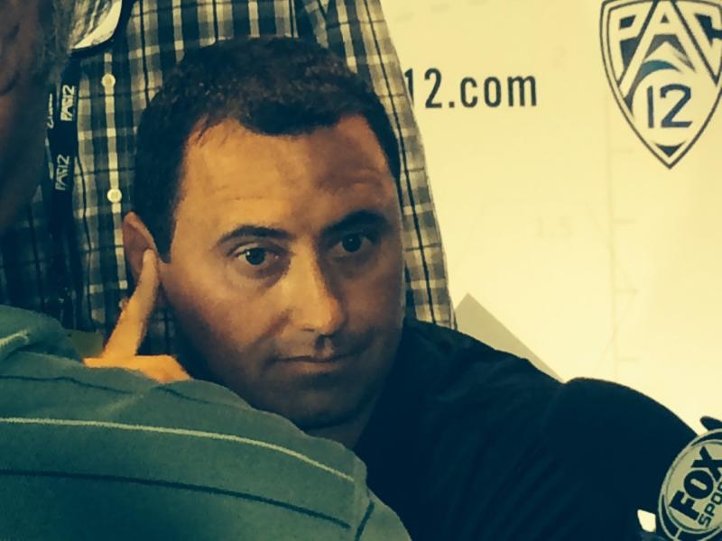 Head coach Steve Sarkisian has a lot on his mind, but is divvying up responsibilities. (Jacob Freedman/Neon Tommy)
