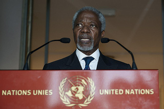 Annan arrived in Syria Monday to condemn last week's massacre, which claimed over 100 people. (Courtesy Creative Commons)